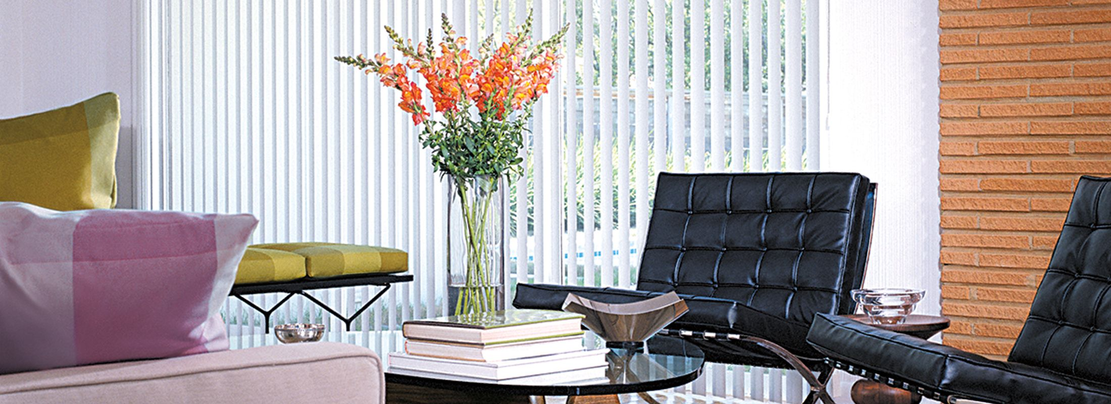 Economical vertical blinds in Afton White - Vertical Solutions