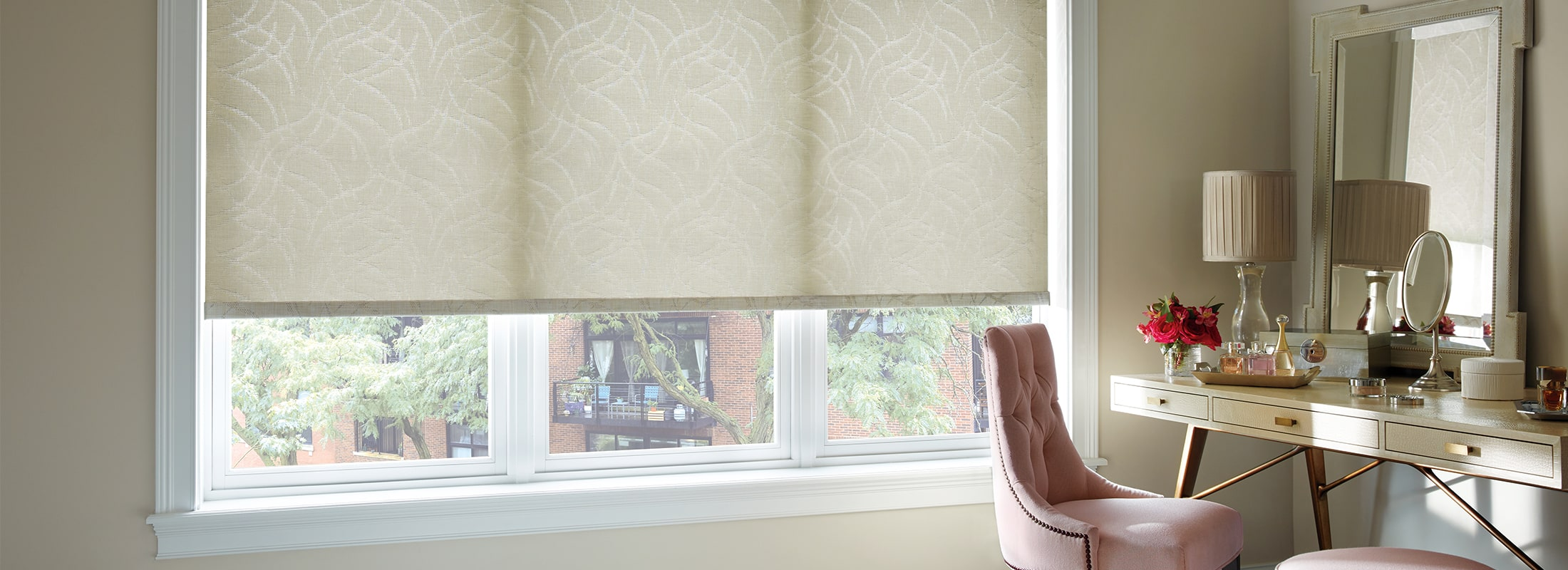 Designer Roller Shades Fabric: Manchester   Color: Historical Abbey
