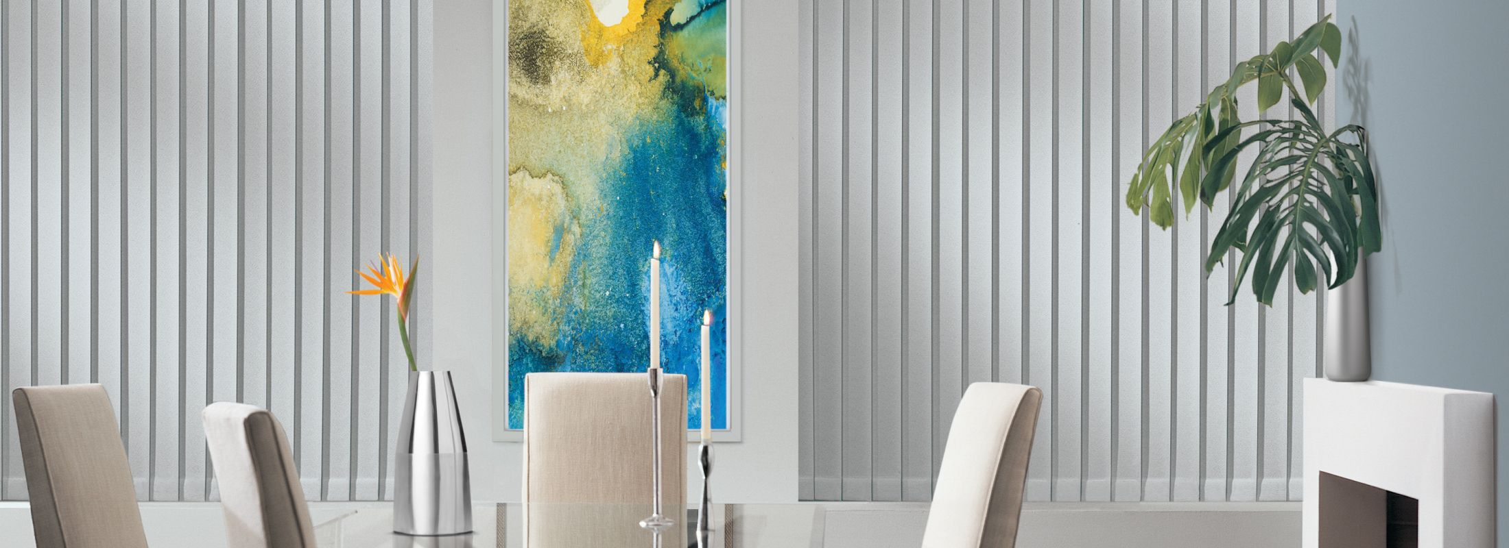 Vinyl blinds in Malta Magentic Grey - Somner
